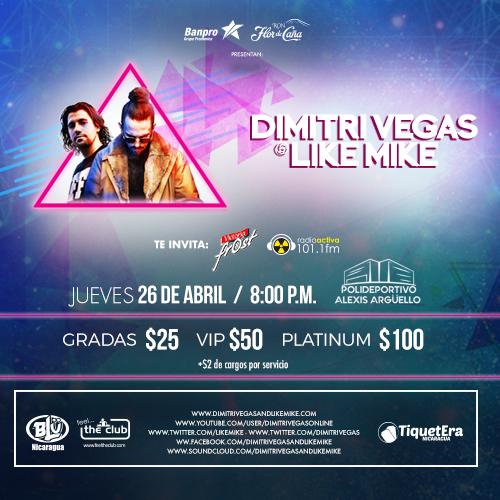 Dimitri Vegas Nicaragua